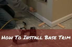Laminate Flooring Skirting Board Trim How To Install Base Trim Youtube