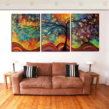 Art For Living Room Online Get Cheap Watercolor Tree Painting Aliexpress Com