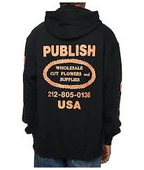 publish wholesale flowers black hoodie zumiez