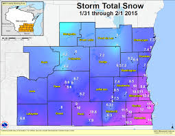 Map Of Southeastern Wisconsin by January 31 February 1 2015 Winter Storm