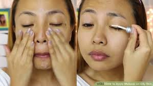 image led apply makeup on oily skin step 4