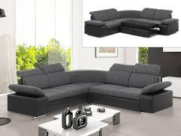 canape avec rangement canapé d angle symétrique tissu simili 2 coloris rabelais