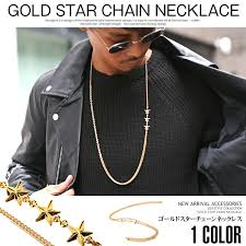 gold necklace men fashion images Lux style necklace men star star street accessories long necklace jpg