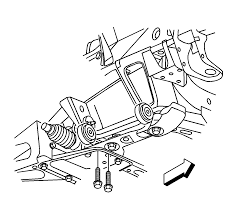 repair instructions front steering gear crossmember replacement