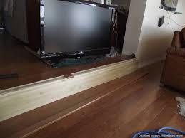 sunken living room concrete to laminate flooring
