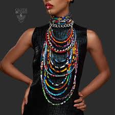 big fashion statement necklace images Cloth cord jpg