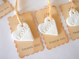 favor thank you rustic favor tag wedding ceramic tags baby