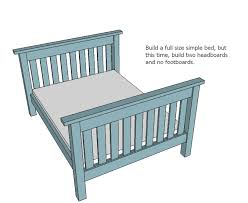 Double Twin Loft Bed Plans by Ana White Twin Over Full Simple Bunk Bed Plans Diy Projects