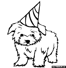 puppy coloring page free download