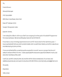 7 formal letter of resignation template financial 6 formal