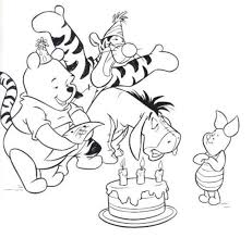thanksgiving coloring pages disney winnie the pooh holidays