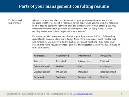Powerful Resume Samples by Management Consulting Resume Sample