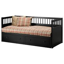 bedroom cool black wooden ikea daybed with under drawer storage