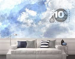 large cloud mural etsy