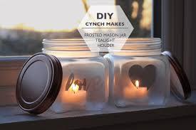 Mason Jar Tea Light Holder Diy Frosted Mason Jar Cynch Makes Youtube
