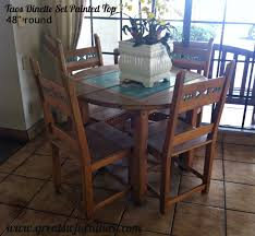 taos southwest style dining set tables chairs china cabinets