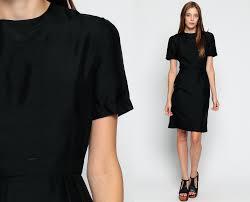 black mini dress 1960s party cocktail mod lbd 60s vintage xs
