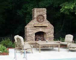 outdoor fireplaces with furniture sets creative fireplaces