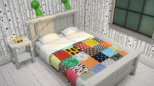my sims 4 blog updated patchwork bedding by budgie2budgie