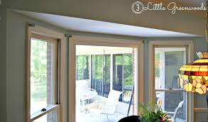 How To Put Curtains On Bay Windows The Secret To Diy Bay Window Curtain Rods From 3 Little Greenwoods