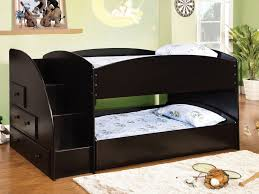 Full Size Trundle Bed With Storage Full Size Trundle Bed Dark Brown Stained Wooden Bed With