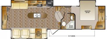rv floor plans cardinal and montana floor plans