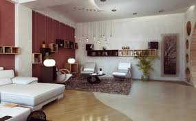 Lights Inside House Modern Interior Design Of The Bedroom With White And Brown