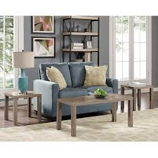 livingroom table sets walker edison 3 coffee table set walmart com