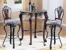 marble top bar table piece catania marble and glass top bar table set by acme 6120