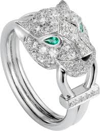 cartier rings jewelry images Crn4244700 panth re de cartier ring white gold diamonds png
