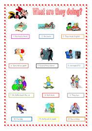 present progressive worksheet free worksheets library download