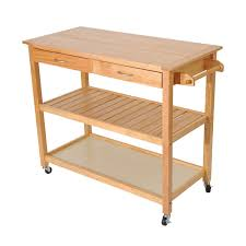 Amazoncom HomCom  Wood Kitchen Utility Trolley Island Cart - Kitchen cart table