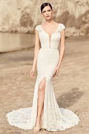 wedding dress style high slit lace wedding dress style 2116 mikaella bridal