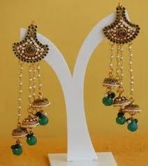 craftsvilla earrings moti jhumkas earrings multi layered pearl jhumki earrings