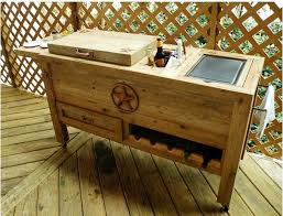Patio Ice Cooler by Amazon Com Outdoor Patio Cooler Bar Wooden Rustic Kitchen