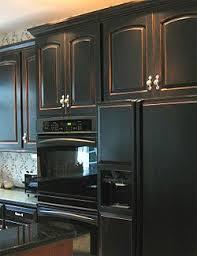 Antique Black Kitchen Cabinets Black Kitchen Cabinets Fabulously Finished