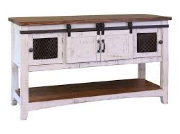 Distressed White Table International Furniture Direct Pueblo Rustic Sofa Table With Mesh