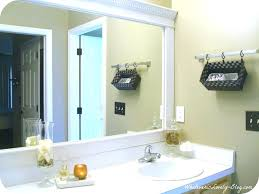 Bathroom Mirror Chrome Wall Mirrors Frame Bathroom Mirror Chrome Framed White Large Size