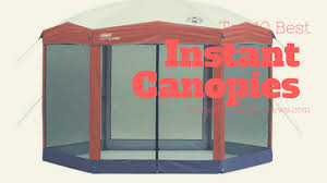 Instant Shade Awning Top 10 Best Instant Canopies In 2017 Reviews