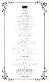 formal dinner menu template