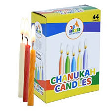 hanukkah candles colors colorful chanukah candles standard size fits most