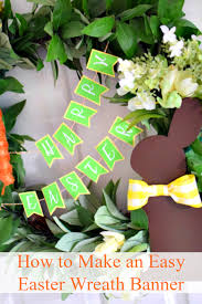 how to make easter wreaths diy easter wreath with paper easter banner miss information