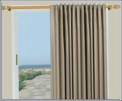 Curtains For Sliding Door Patio Door Double Curtain Rods Patios Home Decorating Ideas