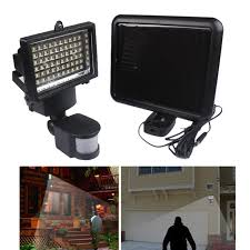 solar powered sensor security light 60 led solar powered outdoor body motion activated detector sensor
