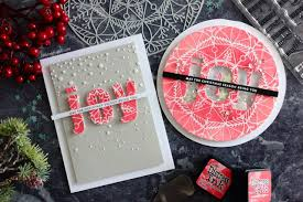 little crafty pill one stencil two christmas cards