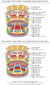 Map Of Chicago Illinois by Symphony Center Chicago Seating Charts