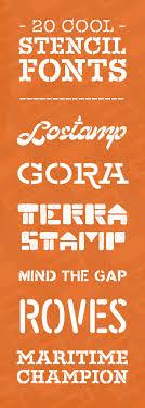 creative font design online 20 cool stencil fonts for your next design project stencil font