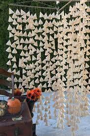 quilt wedding backdrop beige parchment cone backdrop for wedding wall hanging