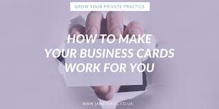 how to make your business cards work for you jane travis grow
