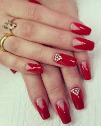 30 nail designs with stones classic french manicure with stones